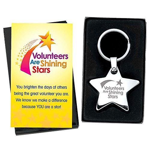 Volunteer Appreciation 5 pc. Star Key Tag Gift Set -