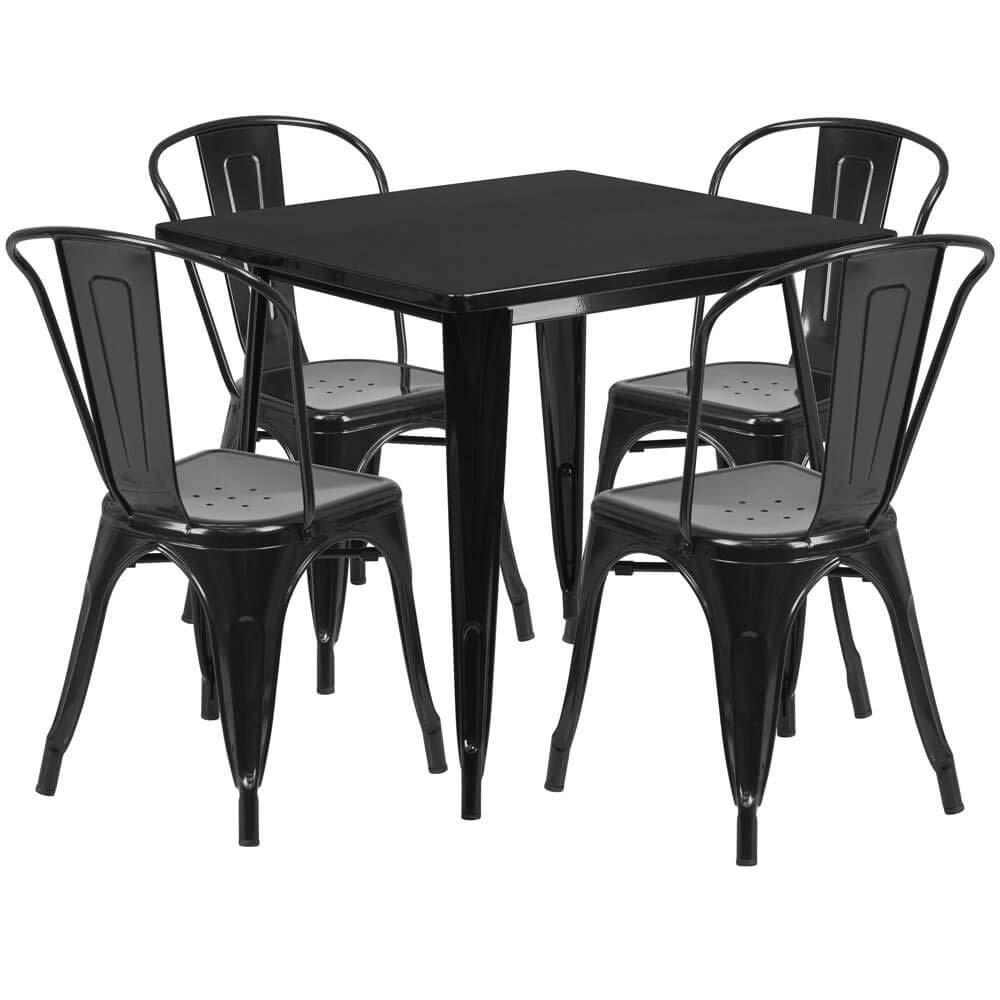 Amazon.com: Ferrara - Juego de mesa y sillas para ...