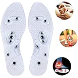 Acupressure Magnetic Massage Insoles - Magnetic Therapy Massaging Foot Reflexology Anti-Plantar Fasciitis Relief Pain Shoes Insoles Washable and Cutable for Men Women Unisex 1 Pair (Max. 13 US/29cm)