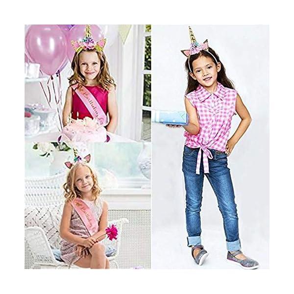 GONGYIHONG Unicorn Birthday Party Supplies Set, Serves 16, Colorful 9