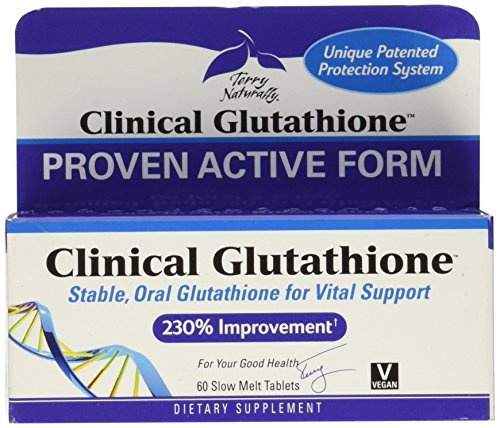 Price comparison product image Terry Naturally Europharma Clinical Glutathione - 60 Slow Melt Tablets