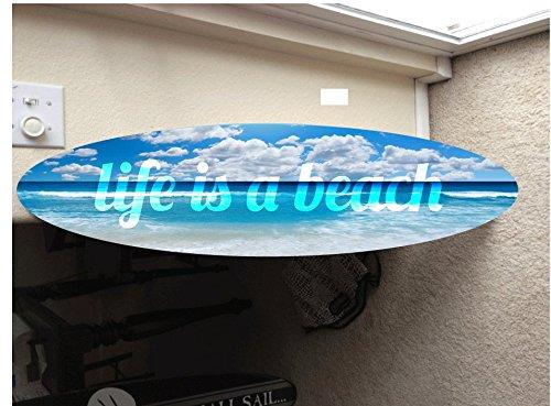5' wall hanging surf board surfboard decor hawaiian beach surfing beach decor by Rad Grafix (Image #1)