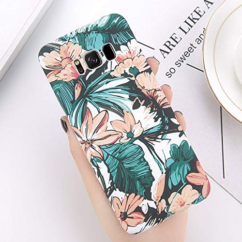 Maxlight Green Leaves Phone Case for Samsung Galaxy S9 S8 Plus Flower Full Back Cases for Samsung S9 Plus Luminous Hard PC Cover (A, for Galaxy S8 Plus) (Samsung Galaxy S2 Plus Back Cover)