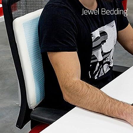 Jewel Bedding Cojín Viscoelástico con Gel, Poliuretano, Blanco, 40x5x40 cm
