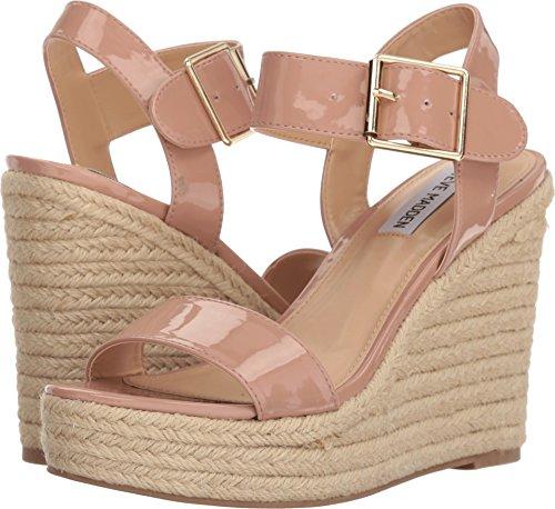 (Steve Madden Women's Santorini Espadrille Wedge Sandal Dark Blush Patent 5.5 M US M)