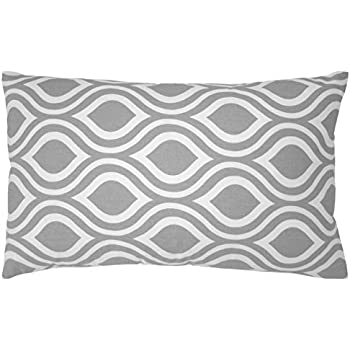 decorative throw pillows at walmart target accent living room cotton canvas lumbar pillow cover gray white inches