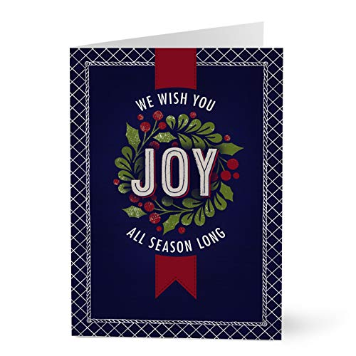 Hallmark Business Christmas Cards for Employees (Joy All Season Holiday) (Pack of 25 Greeting Cards) (Best Business Christmas Cards)