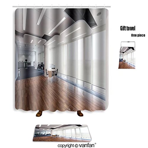 Vanfan Bath Sets With Polyester Rugs And Shower Curtain Interior Of An Office In A Printing