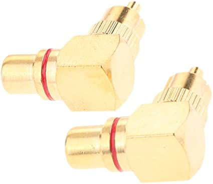 Connettore dorato RCA maschio femmina 90 gradi