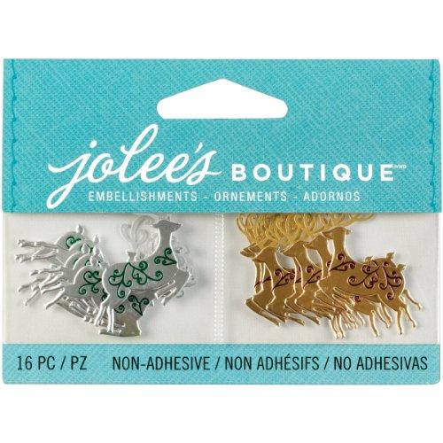 Jolee's Boutique 50-00621 Scrapbooking Embellishments, Mini Reindeer