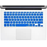 "Kuzy - AIR-11inch BLUE Keyboard Silicone Cover Skin for MacBook Air 11.6"" Models: A1370 and A1465 - (USA KEYBOARD VERSION) - Blue"