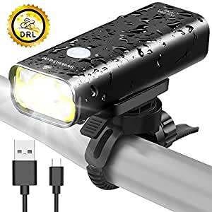 Sahara Sailor Front Bike Light USB Rechargeable - Super Bright 800 Lumens Aluminum Alloy IPX6 Waterproof Bicycle Light - Fits ALL Bicycles, Road, MTB, Easy Install & Quick Release Bike Headlight