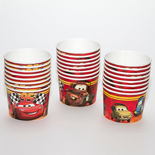 Disney Cars Treat Cups/Snack Holders (24 Count) by Custom Bundle