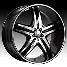 Cruiser Alloy Impulse 17x7.5 Machined Black Wheel / Rim 5x110 & 5x115 with a 38mm Offset and a 73.00 Hub Bore. Partnumber 908MB-7754338 by Cruiser Alloy