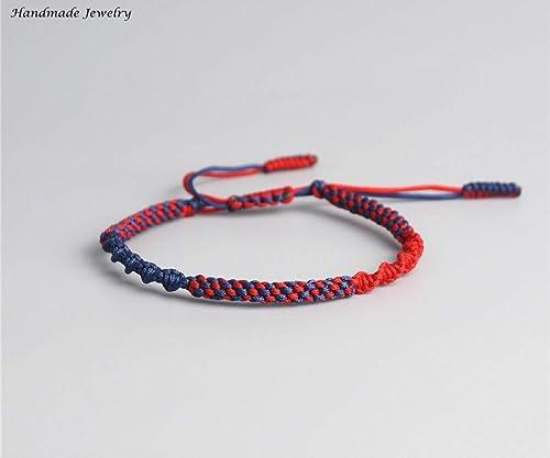 727c9bf3494e2 Lucky Handmade Bracelet Tibetan Buddhist Lucky Charm Tibetan Bracelets    Bangles For Women Men Handmade Knots