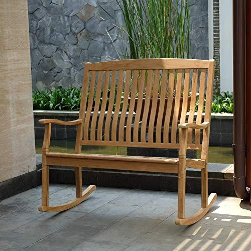 Cambridge-Casual AMZ-130776T Arie Teak Loveseat Rocking Chair