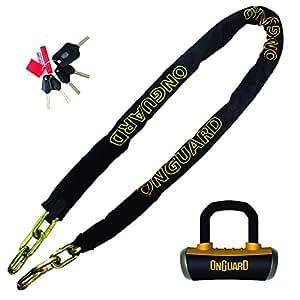 """OnGuard 8019L Mastiff 6' x 3/8"""" Quad Chain Lock"""