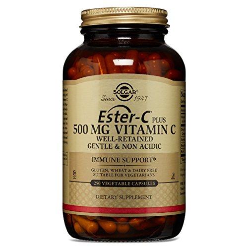 Solgar - Ester-C Plus Vitamin C (Ester-C Ascorbate Complex) 500 mg, 250 Vegetable Capsules