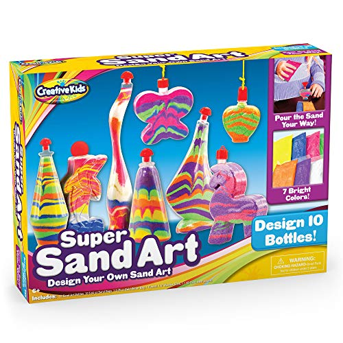 Creative Kids DIY Super Sand Art and Crafts Activity Kit for Kids – Create Your Own Crafts – 10 x Sand Art Bottles, 10 x…