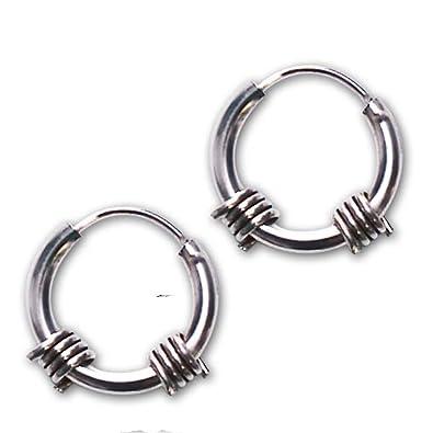 Etnox By Echt Barb Wire Stainless Steel Earrings Amazon Co Uk