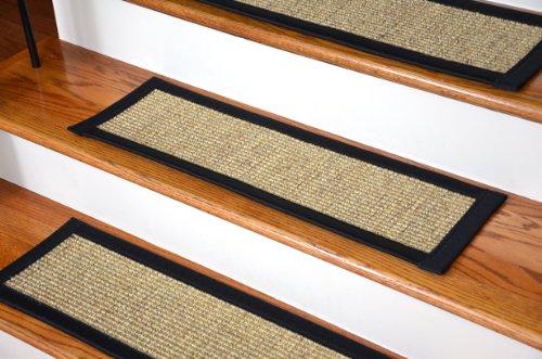 Dean Attachable Non Skid Sisal Carpet Stair Treads   Desert/Black (Set Of  13) Plus A 2u0027 X 3u0027 Mat: Staircase Step Treads: Amazon.com: Industrial U0026  Scientific