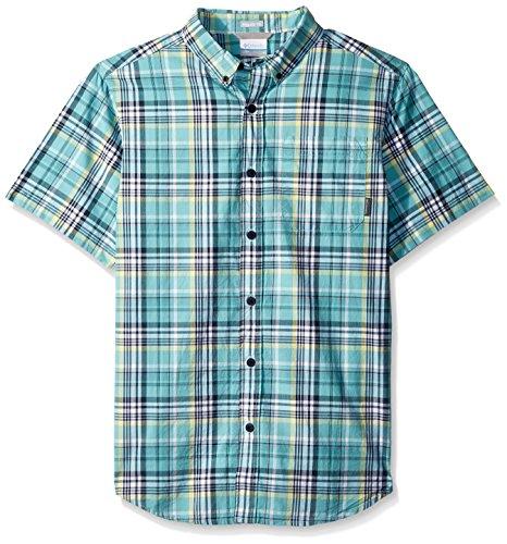 Columbia Men's Rapid Rivers Ii Short Sleeve Shirt, Night Shadow Plaid Small