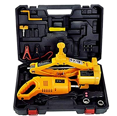 Electric Car Floor jack set 3 Ton All-in-One Automatic 12v Scissor Lift Jack with Impact Wrench for Tire Change & Replacement