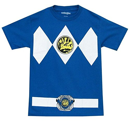 [The Power Rangers Blue Rangers Costume Adult T-shirt Tee XXX-Large] (Power Ranger Samurai Costumes)