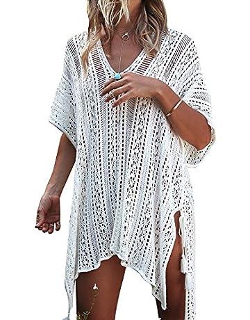 4c8972bac527 JOSIFER Women s Summer Beach Coverups Bikini Swimsuit Crochet Cover ups Net