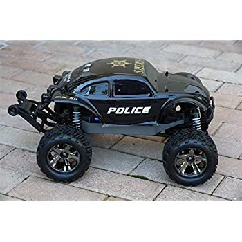 Car Batteries Bestreviews >> Amazon.com: SummitLink Custom Body Police Style Compatible for 1/10 Scale RC Car or Truck (Truck ...