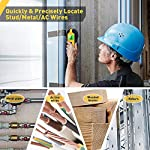 Stud Finder - 4 in 1 Electronic Wooden Metal Stud Sensor Locator Wall Scanner Detector Wood Beam Finders Center with Battery and LCD Display for Wood AC Wire Metal Studs Detection