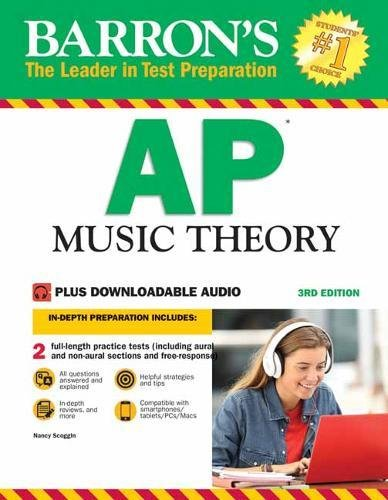 Barron's AP Music Theory, 3rd Edition: with Downloadable Audio Files [Nancy Scoggin] (Tapa Blanda)