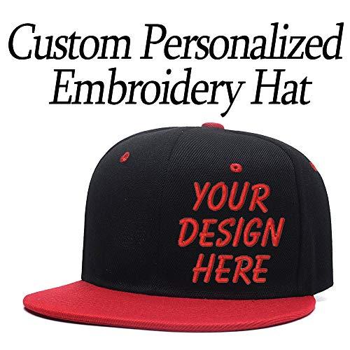 Custom Different Embroidered Hat,Trucker Cap for Adult,Adjustable Unisex Hat(Black) for $<!--$13.35-->