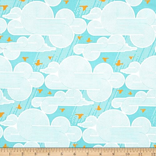 cumulus-mint-by-joel-dewberry-for-freespirit-fabrics-pwjd108mintx-blue-yellow-clouds-birds-yard