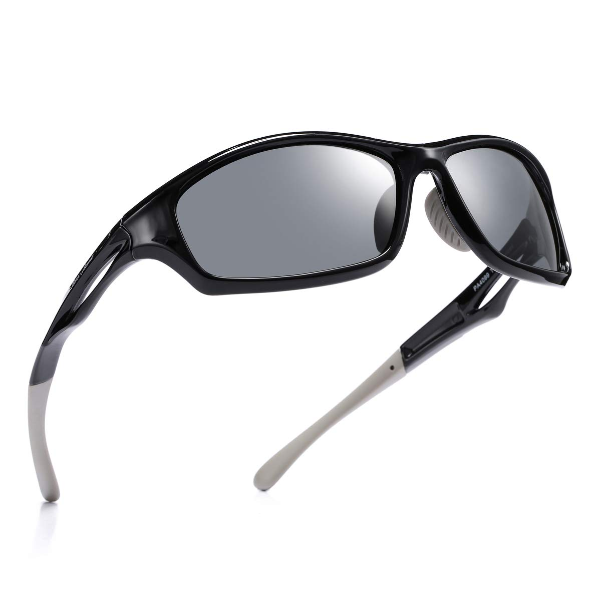 Pro Acme Polarized Sports Sunglasses for Men TR90 Unbreakable Frame (FDA Approved) (Jet Black) by Pro Acme