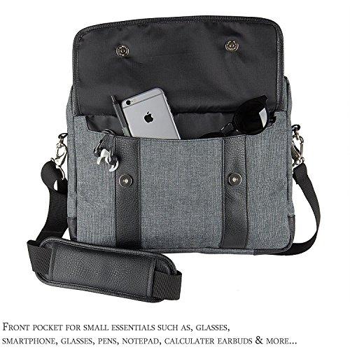 16 ~ Laptop Bag, Twill Vegan Shoulder For Laptop, Ultrabooks, Chromebooks Netbook Computers