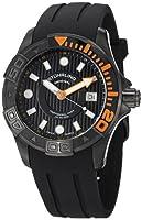 Stuhrling Original Men's 718.04 Aquadiver Manta Ray Swiss Quartz Professional Diver Black Watch by Stuhrling Original
