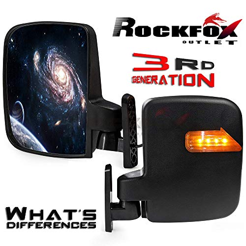 - RockFox Outlet Third Generation Golf Cart LED Side Mirrors Grand Launch in Worldwide!! New Universal Adjustable Rear View Mirror with Turn Signals for Most Golf Carts.Hardware Included. (Side Mirror)