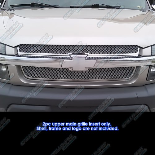 Top 01-06 Chevy Avalanche Stainless Mesh Grille Grill Insert free shipping