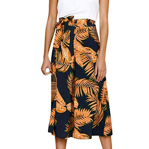 Price comparison product image ANJUNIE Women's Oversize Casual Pint Harem Pants Loose Trousers Wide Leg Pants(Yellow, M)