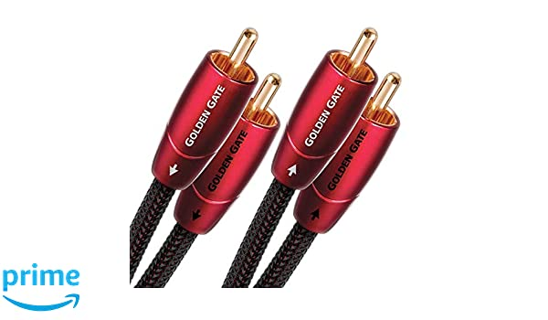 AudioQuest 0.6m Golden Gate RCA cable de audio 0,6 m 2 x RCA Negro: Amazon.es: Electrónica