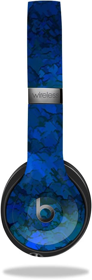 MightySkins Skin Compatible with Beats by Dr. Dre Solo 3 Wireless - Blue Ice | Protective, Durable, and Unique Vinyl Decal wrap Cover | Easy to Apply, Remove, and Change Styles | Made in The USA