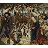 The high quality polyster Canvas of oil painting 'Adoration of the shepherds by Aelbert Bouts' ,size: 12x14 inch / 30x35 cm ,this Best Price Art Decorative Canvas Prints is fit for Kitchen decor and Home gallery art and Gifts