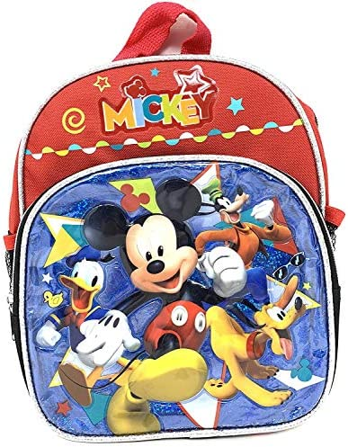 """Disney Mickey Mouse 10\"""" Toddler X-Small Backpack"""