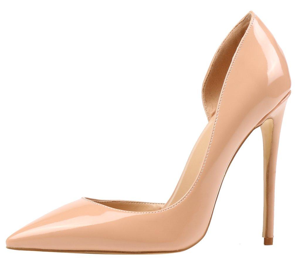 AOOAR AP37 - Zapatos de Vestir de Sintético para Mujer 45.5 EU|Nackt/Lackleder