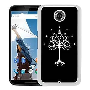 New Fashion Custom Designed Cover Case For Google Nexus 6 With Tree of Gondor White Phone Case