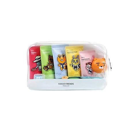 Kakao amigos comodidad Kit de viaje 7 piezas Champú, Acondicionador, cuerpo lavado, limpieza