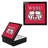 CollegeFanGear Winston Salem Ebony Black Accessory Box With 6 x 6 Tile 'WSSU Ram'