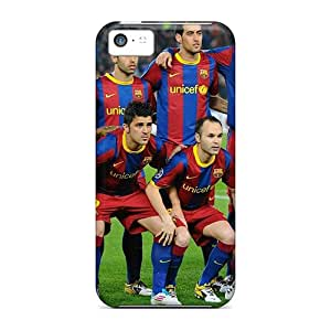 Defender Case For Iphone 5c, Barcelona Soccer Players Sport Pattern