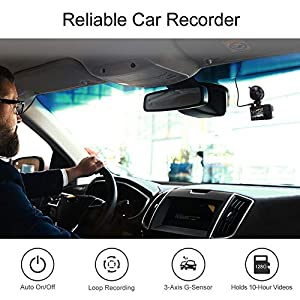 AKASO Trace 1 Pro Dual Lens Car Dash Camera, 2K Dash Cam WiFi with Phone App External GPS Front and Inside Lens with Sony STARVIS Dual Record 1080p30 340° Coverage Included 32GB Card Fatigue Reminder